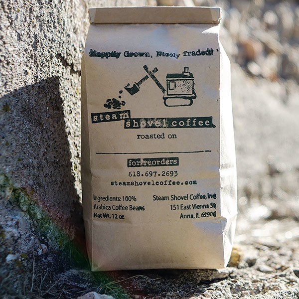 12oz of Bags of Freshly Roasted Steam Shovel Coffee - Whole Bean